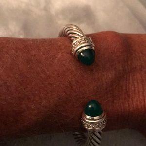 8a3d05d28a9 ... David Yurman green onyx 7 mm bracelet ...